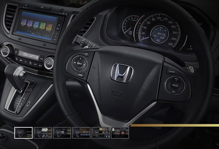 interior all new honda crv