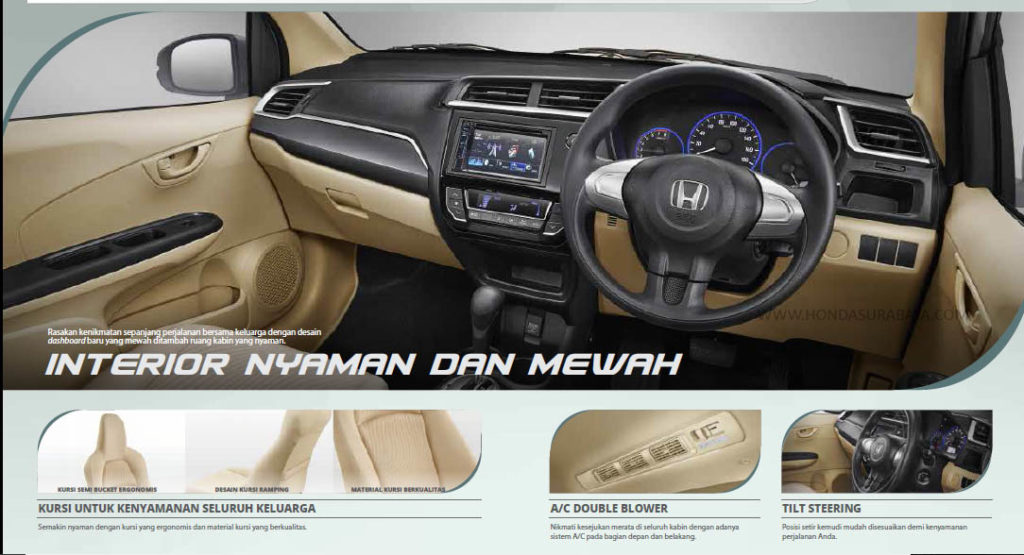interior new honda mobilio