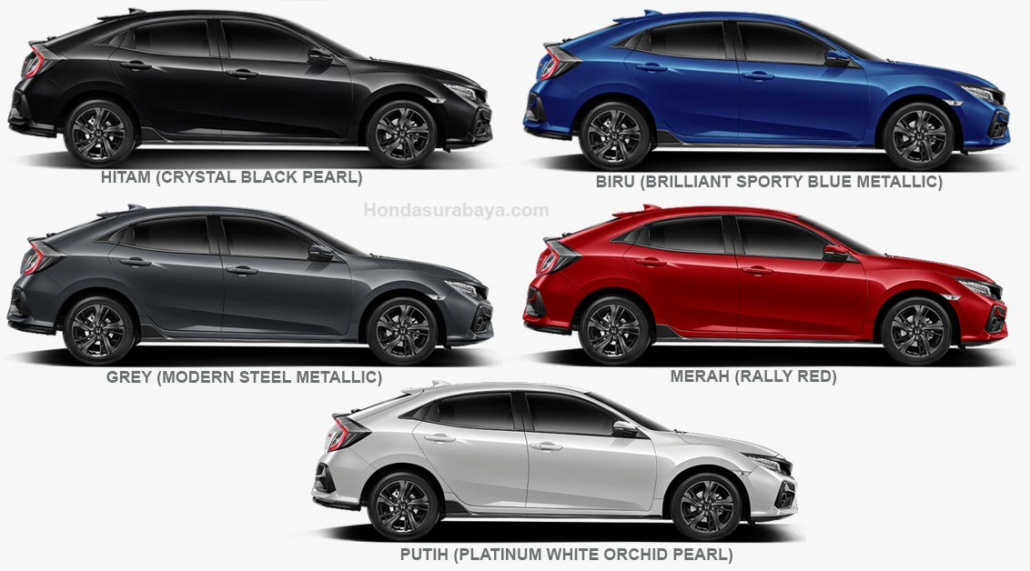 pilihan warna Honda Civic HatchbackRS Turbo