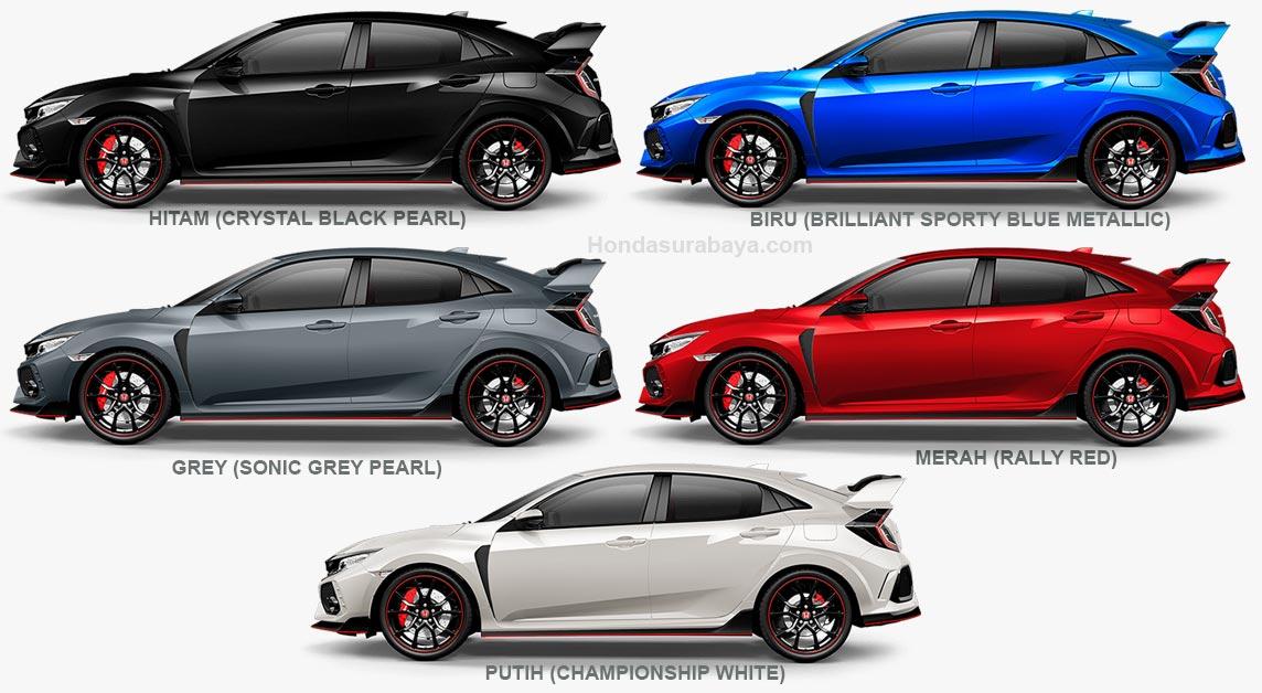 Pilihan warna Honda Civic type R.jpg