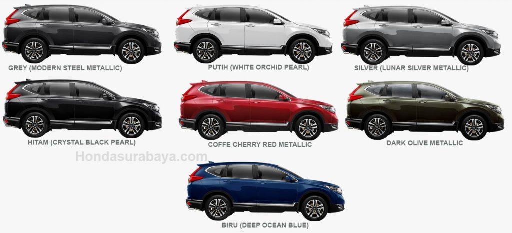 pilihan warna honda CRV turbo
